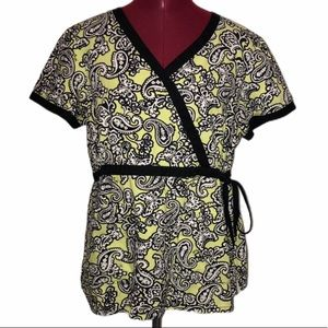 Koi by Kathy Peterson Women's Medium  Scrubs Shirt